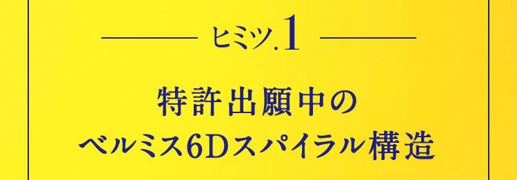 ヒミツ.1 特許出願中のベルミス6Dスパイラル構造